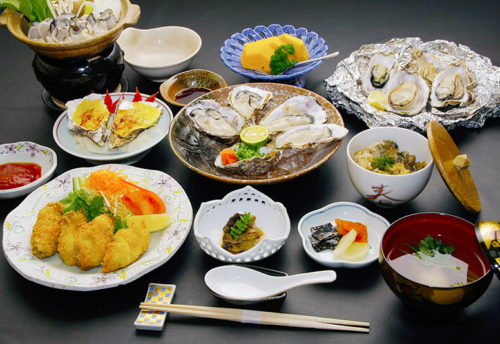 Dishes of oyster, Hiroshima' speciality
